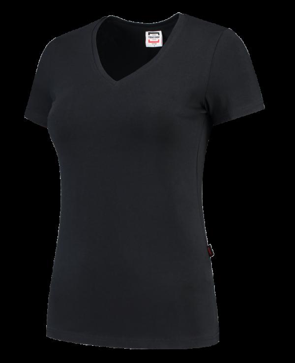 TVT190 - Navy - T-shirt V hals Fitted Dames - 101008 01