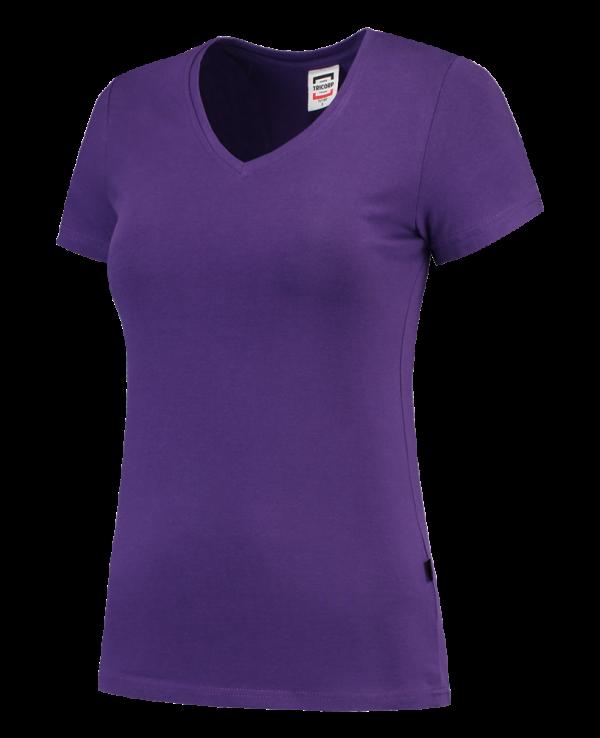 TVT190 - Purple - T-shirt V hals Fitted Dames - 101008 01