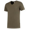 TFV160 - Army - T-shirt V hals Fitted - 101005 01