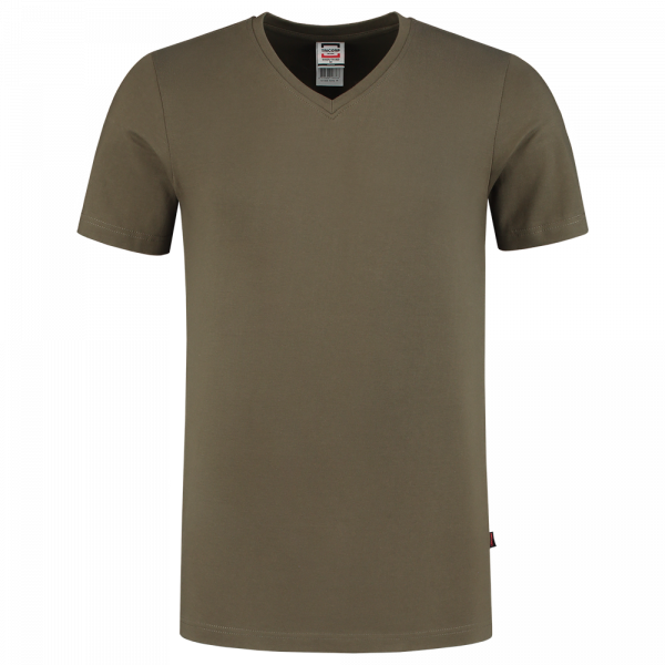 TFV160 - Army - T-shirt V hals Fitted - 101005 02