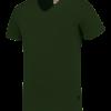 TFV160 - Bottlegreen - T-shirt V hals Fitted - 101005 01