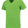 TFV160 - Lime - T-shirt V hals Fitted - 101005 01