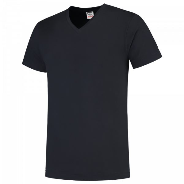 TFV160 - Navy - T-shirt V hals Fitted - 101005 01