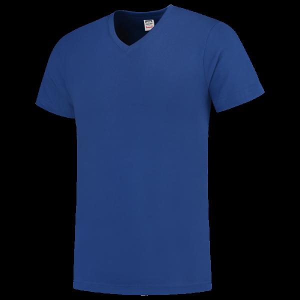 TFV160 - Royalblue - T-shirt V hals Fitted - 101005 01