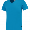 TFV160 - Turquoise - T-shirt V hals Fitted - 101005 01