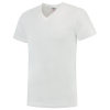 TFV160 - White - T-shirt V hals Fitted - 101005 01