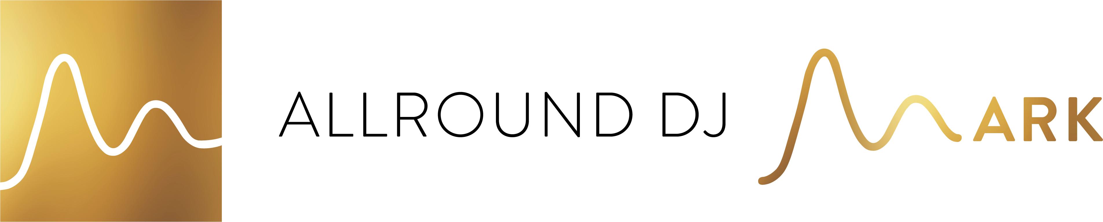 Logo AllroundDJMark witteachtergrond
